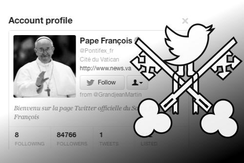 Le pape François sur Twitter
