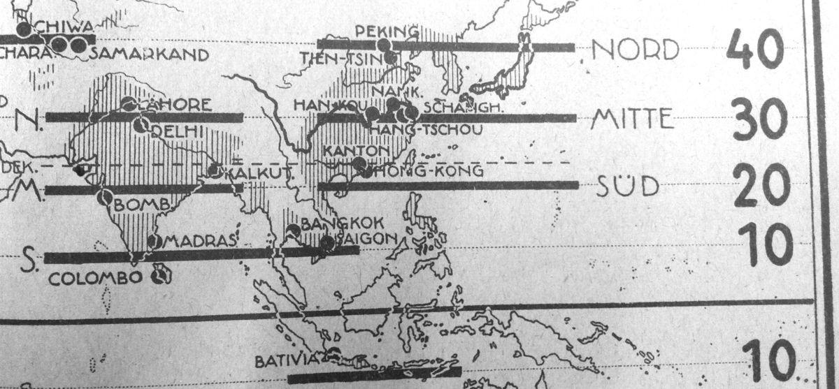 Un petit passage par l'Asie pour constater que Tokyo est absente de la carte.