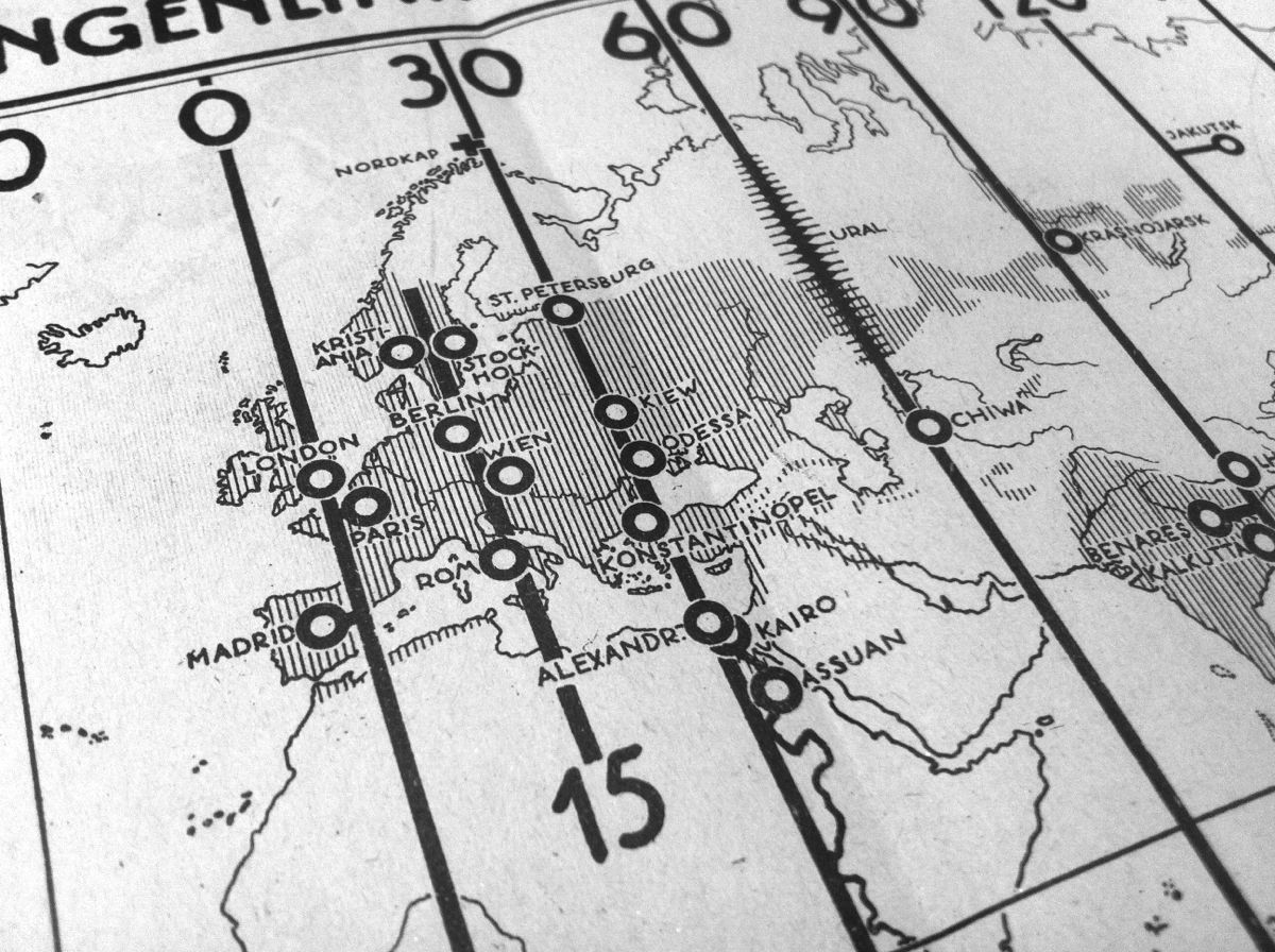 Urbanisation de l'Europe : strates longitudinales