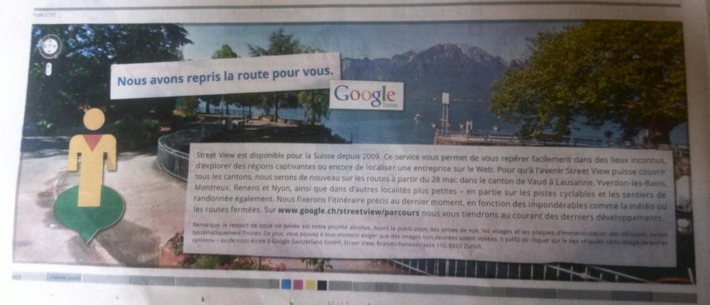 Google StreetView dans le 24Heures