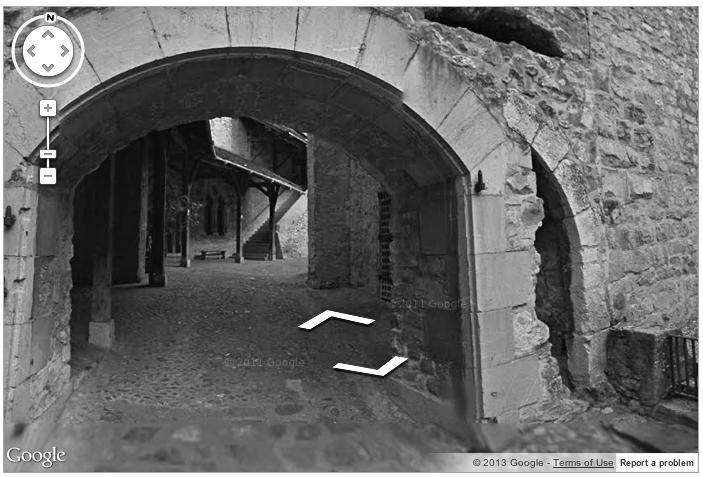 Visite du château de Chillon avec Street View.