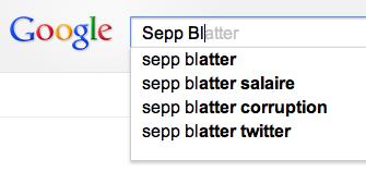 Quelle réputation pour Sepp Blatter sur internet ?
