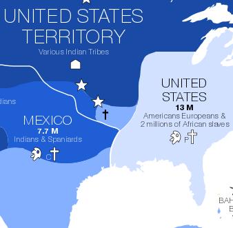 Détail d'Amérique du Nord