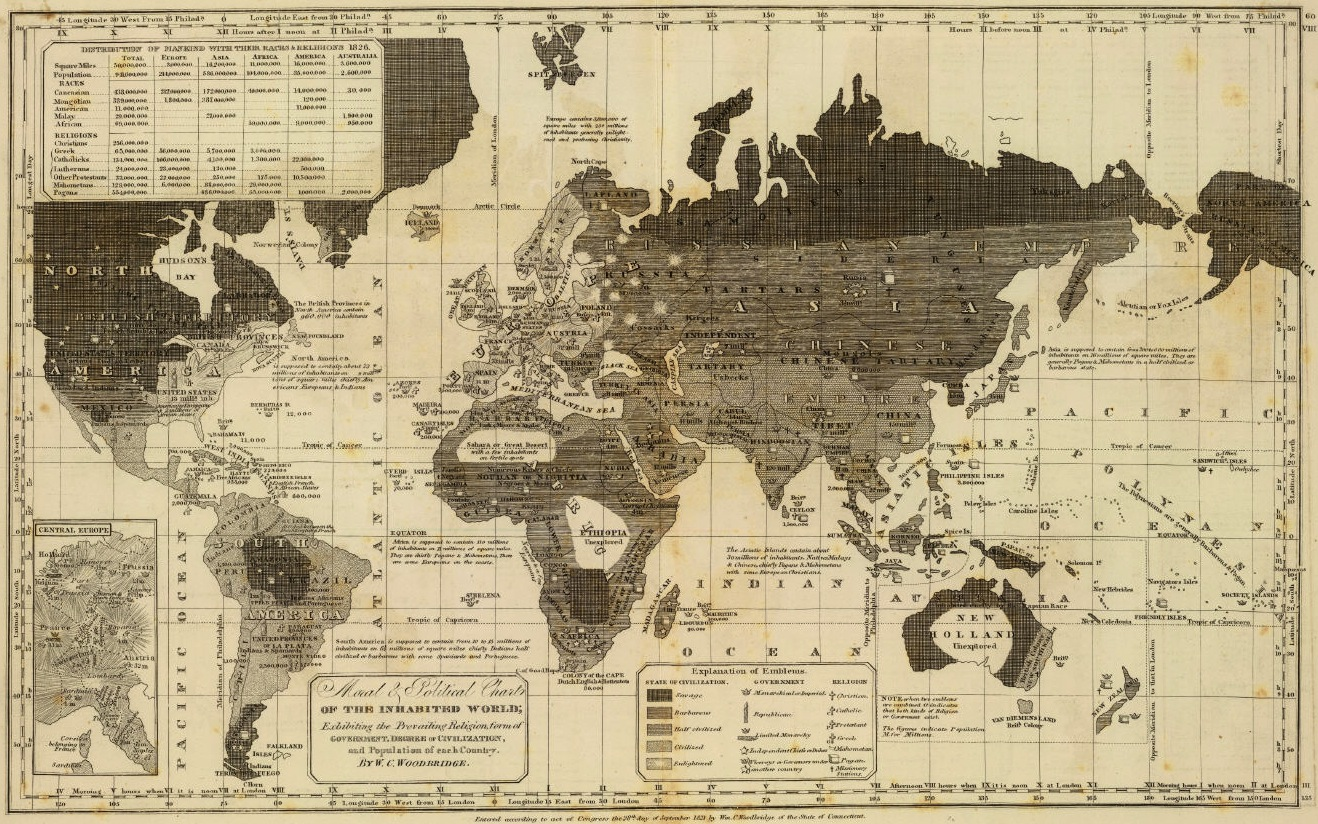 World Moral Map 1837