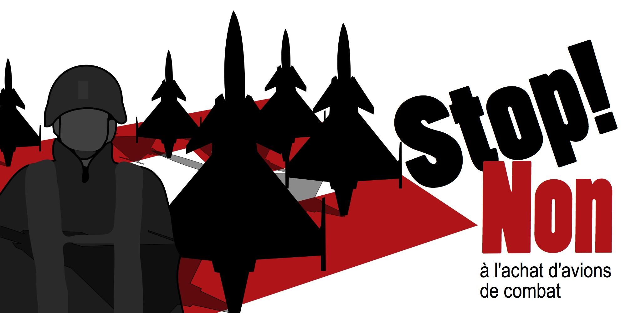 Non à l'achat d'avions de combat Gripen ! [Version campagne anti-minarets]