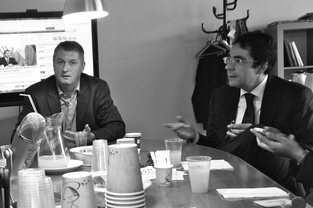 Discussion avec B. Rappaz et D. Rochebin