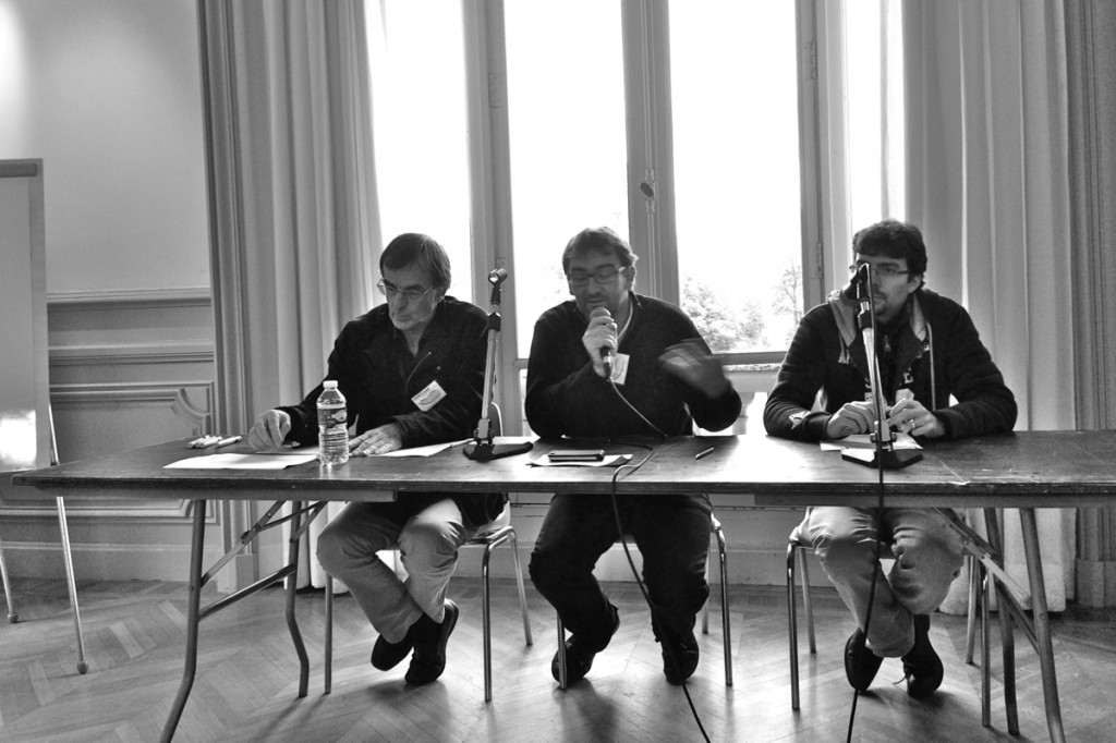 Les organisateurs, Alexandre Serres, Nicolas Thély et Olivier Le Deuff