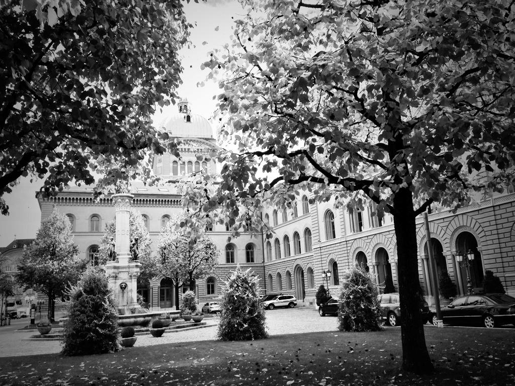 Le Palais Fédéral, siège du parlement helvétique.