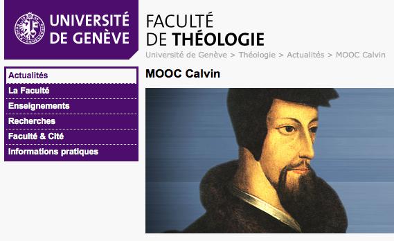 MOOC Université de Genève Calvin