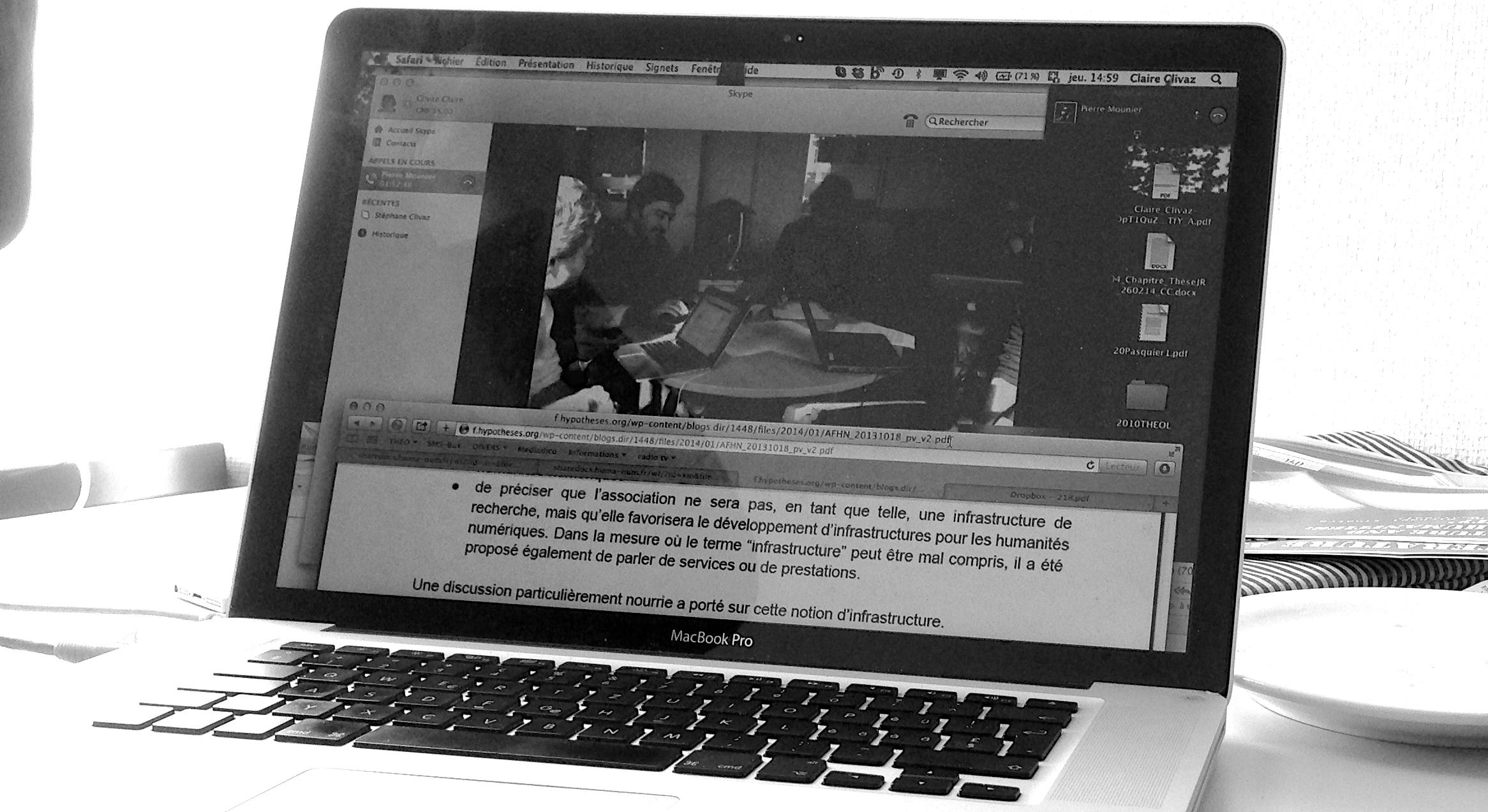 6 mars 2014 : après de très nombreux échanges de courriels, le comité provisoire prépare sa rencontre de Paris par visioconférence.