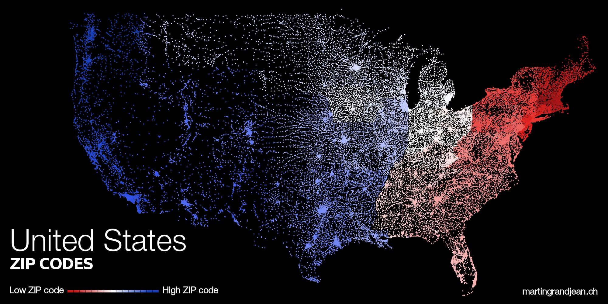 The US ZIPScribble Map Zip Code May Determine Your Lifespan - Us zip code regions