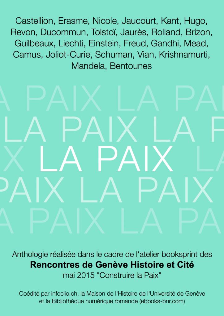 La Paix Anthologie numerique
