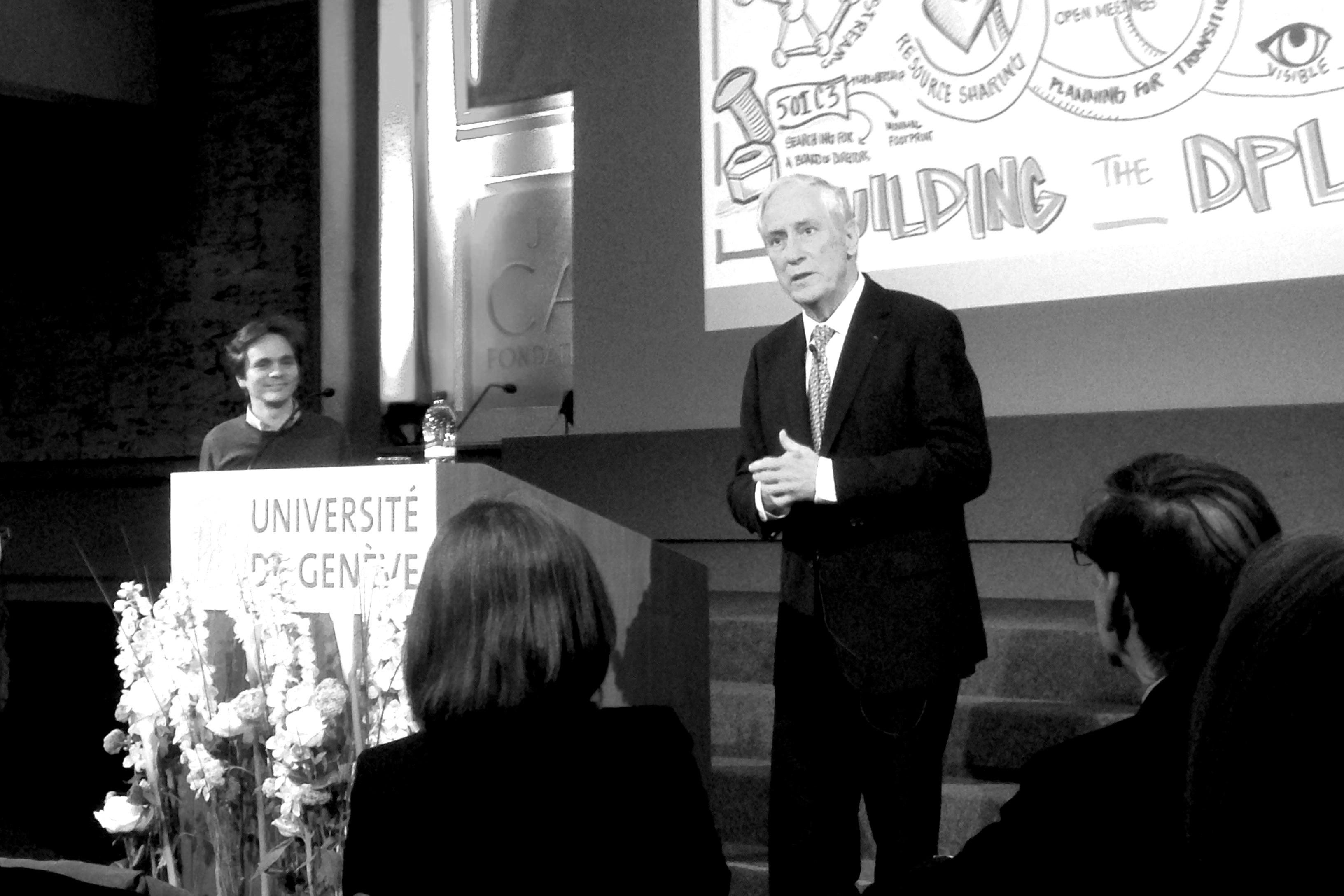 Conférence de Robert Darnton, directeur de la bibliothèque universitaire d'Harvard (UNIGE 7 mai 2015)