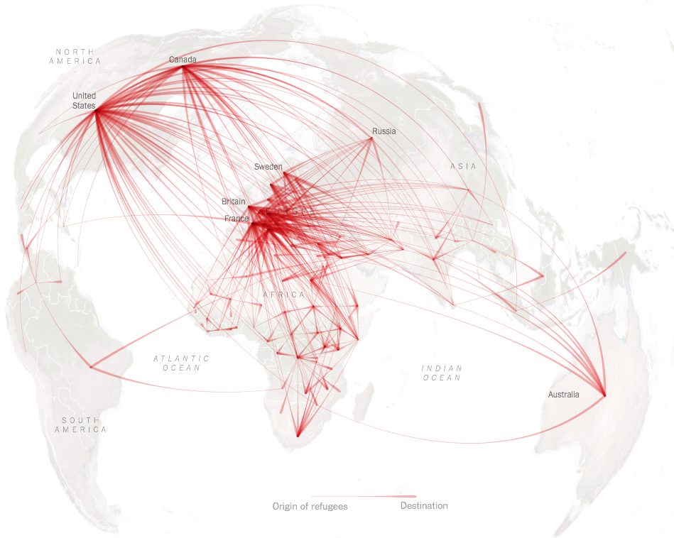 [Data Visualization] What does the global map of refugees (really) looks like?